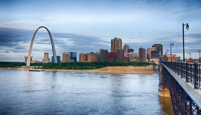 Beauftiful St. Louis City skyline