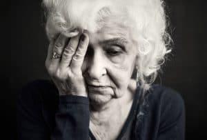distraught senior female