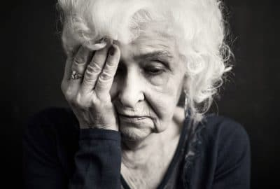 distraught senior female